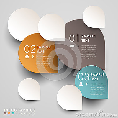 Free Vector Abstract 3d Paper Infographics Stock Image - 35198371