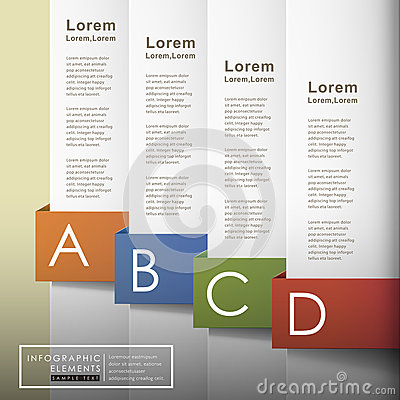 Free Vector Abstract 3d Paper Infographics Stock Images - 35198384