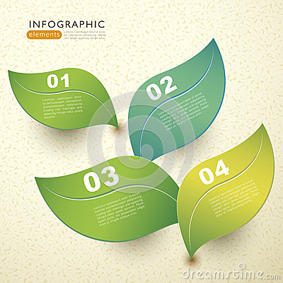 Free Vector Abstract 3d Paper Leaf Infographics Royalty Free Stock Photography - 33614287