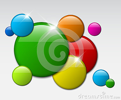 Vector abstract  background with circle badges
