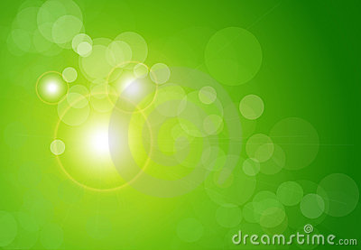 Vector abstract background green bokeh