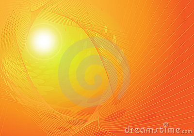 Vector abstract background orange lights