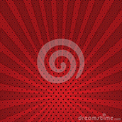 Vector abstract background of red star burst .
