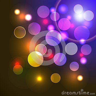 Vector abstract background with shiny colored ligh