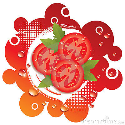 vector abstract background with tomatoes