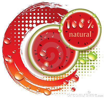 vector abstract background with watermelon