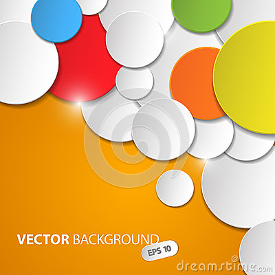 Free Vector Abstract Background With Colorful Circles Stock Photos - 30426853