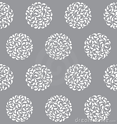 Free Vector Abstract Circles Seamless Pattern Royalty Free Stock Photography - 21288957