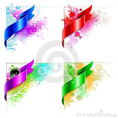 Free Vector Abstract Corner Design With Floral Elements Stock Photography - 13522242