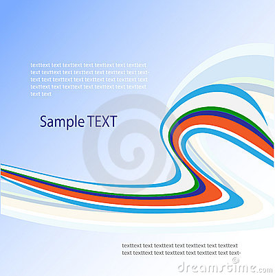 Vector abstract design in blue and green