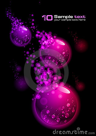Free Vector Abstract Design. Bubbles Royalty Free Stock Photography - 15666057