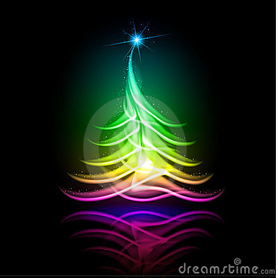 Vector abstract design. Christmas tree.