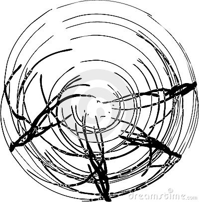 The vector abstract figure black-and-white