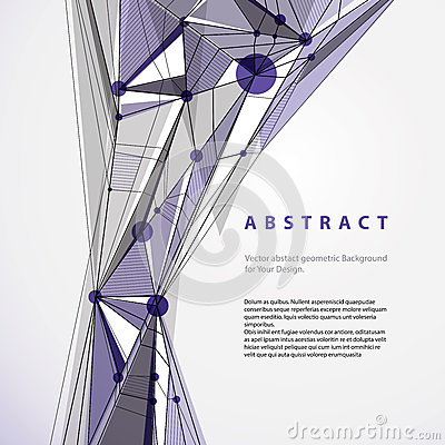 Vector abstract geometric background, contemporary style illustr
