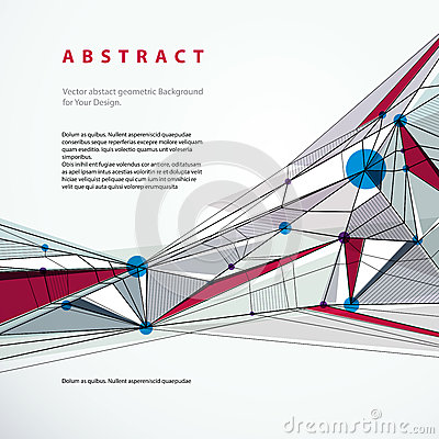 Vector abstract geometric background, technical style illustrati