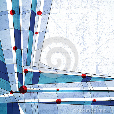 Vector abstract geometric background, techno style illustration.