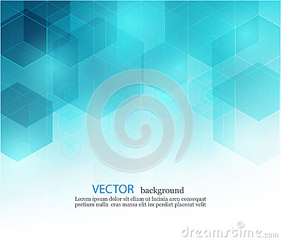 Vector Abstract geometric background. Template brochure design. Blue hexagon shape EPS10 Vector Illustration