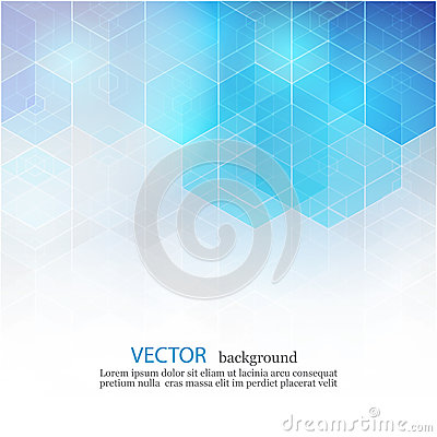 Free Vector Abstract Geometric Background. Template Brochure Design. Blue Hexagon Shape EPS10 Royalty Free Stock Photo - 77590875