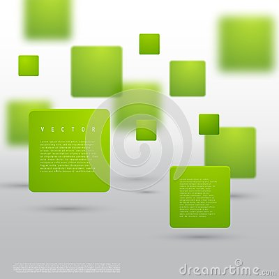Free Vector Abstract Geometric Shape From Green Cubes Royalty Free Stock Photography - 49729137
