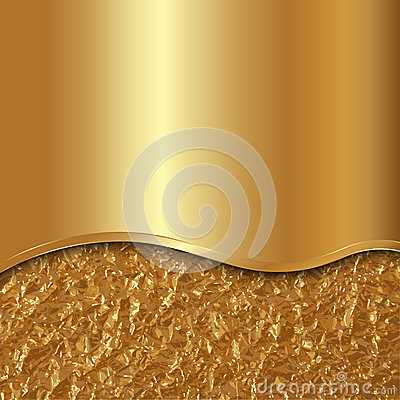 Free Vector Abstract Gold Background With Curve And Foil Stock Photos - 40225643