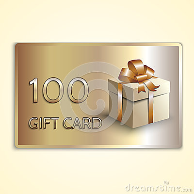Free Vector Abstract Golden Gift Card With Box Royalty Free Stock Photography - 52532857