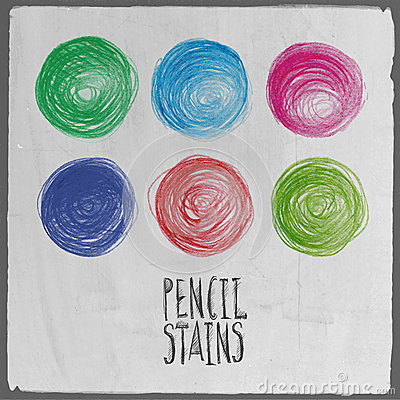Vector abstract hand drawn circles set