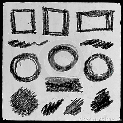 Vector abstract hand drawn pencil grunge set