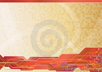 Vector abstract hi-tech template