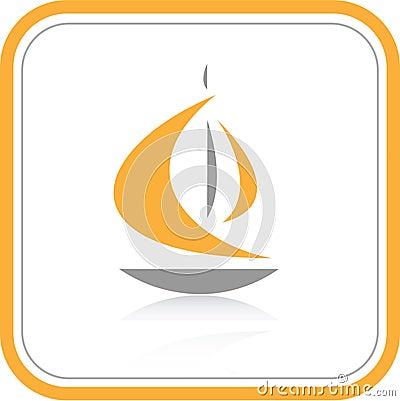 Vector abstract internet icon