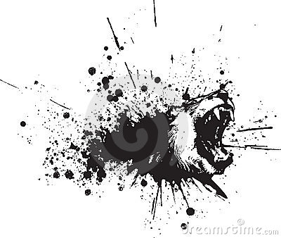 Vector Abstract Lion Spray