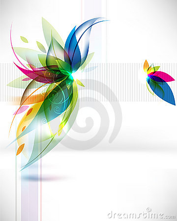 Free Vector Abstract Multicolor Leaf Background Stock Photo - 23255700