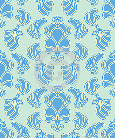 Vector abstract ornate shelly seamless pattern