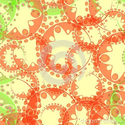 Free Vector Abstract Pastel Pattern Of Green Soap Bubbles And Gears I Stock Photos - 127945003