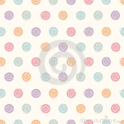 Free Vector Abstract Polka Dot Seamless Pattern. Stock Images - 71558824
