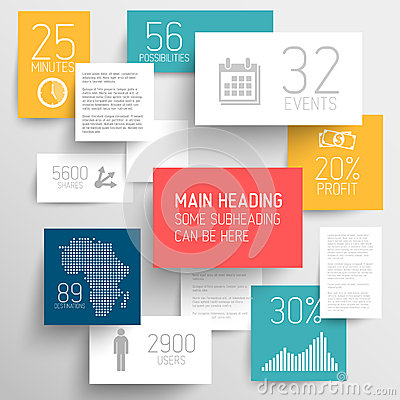Free Vector Abstract Rectangles Background Illustration / Infographic Template Stock Images - 33554224