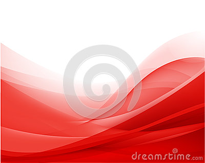 Vector abstract red wavy background, wallpaper Vector Illustration