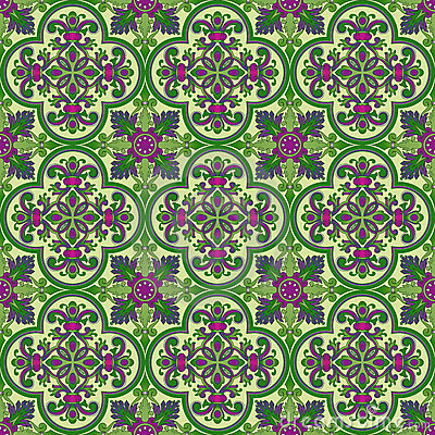 Vector abstract seamless medieval pattern