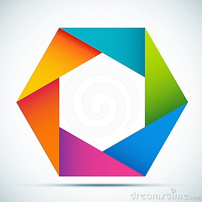 Vector abstract shape
