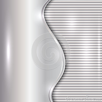 Free Vector Abstract Silver Background With Curve And Stripes Stock Image - 39733621