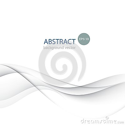 Vector Abstract smooth color gray wave background. Vector Illustration