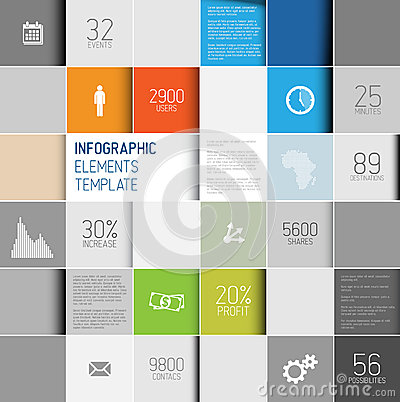 Free Vector Abstract Squares Background Illustration / Infographic Template Royalty Free Stock Images - 31874969
