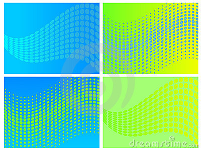 Vector abstract wave set