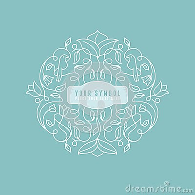 Free Vector Abstract Wedding Monogram Stock Images - 40612764