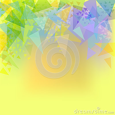 Vector abstract yellow background with triangles