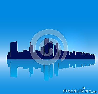Vector Abu Dhabi silhouette skyline