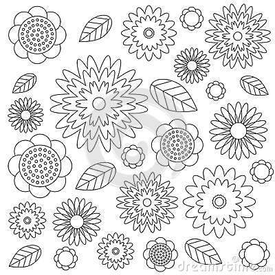 Adult Colouring In Pictures Flowers