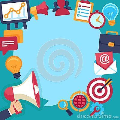 Free Vector Advertising And Promotion Royalty Free Stock Photos - 43707598
