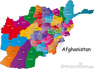 Vector Afghanistan map