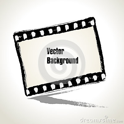 Vector: Aged  illustration of a grunge filmstrip frame.