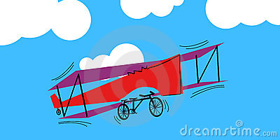 Vector airplane-tandem flies in the sky